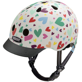 Nutcase Little Nutty Street Casco de bicicleta Niños, happy hearts